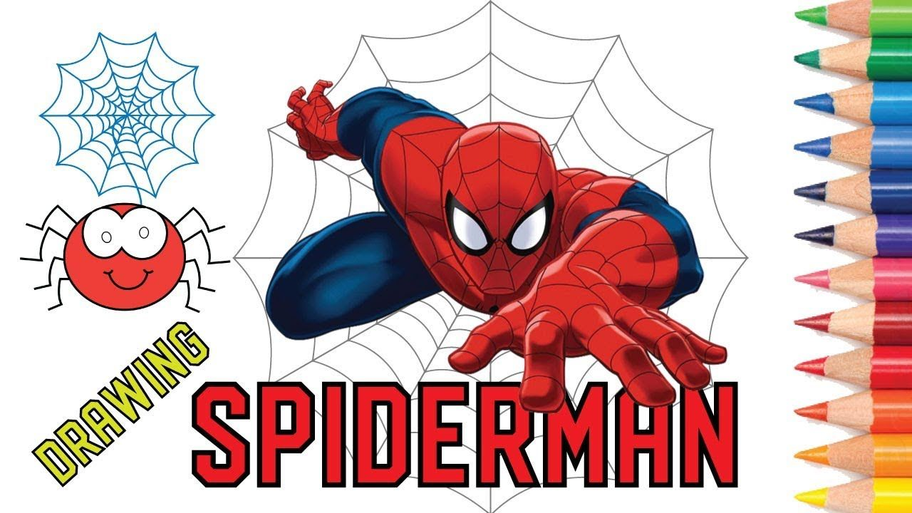How To Draw Color Spiderman Face Drawing Spiderman Homecoming Col Spiderman Face Face Drawing Spiderman