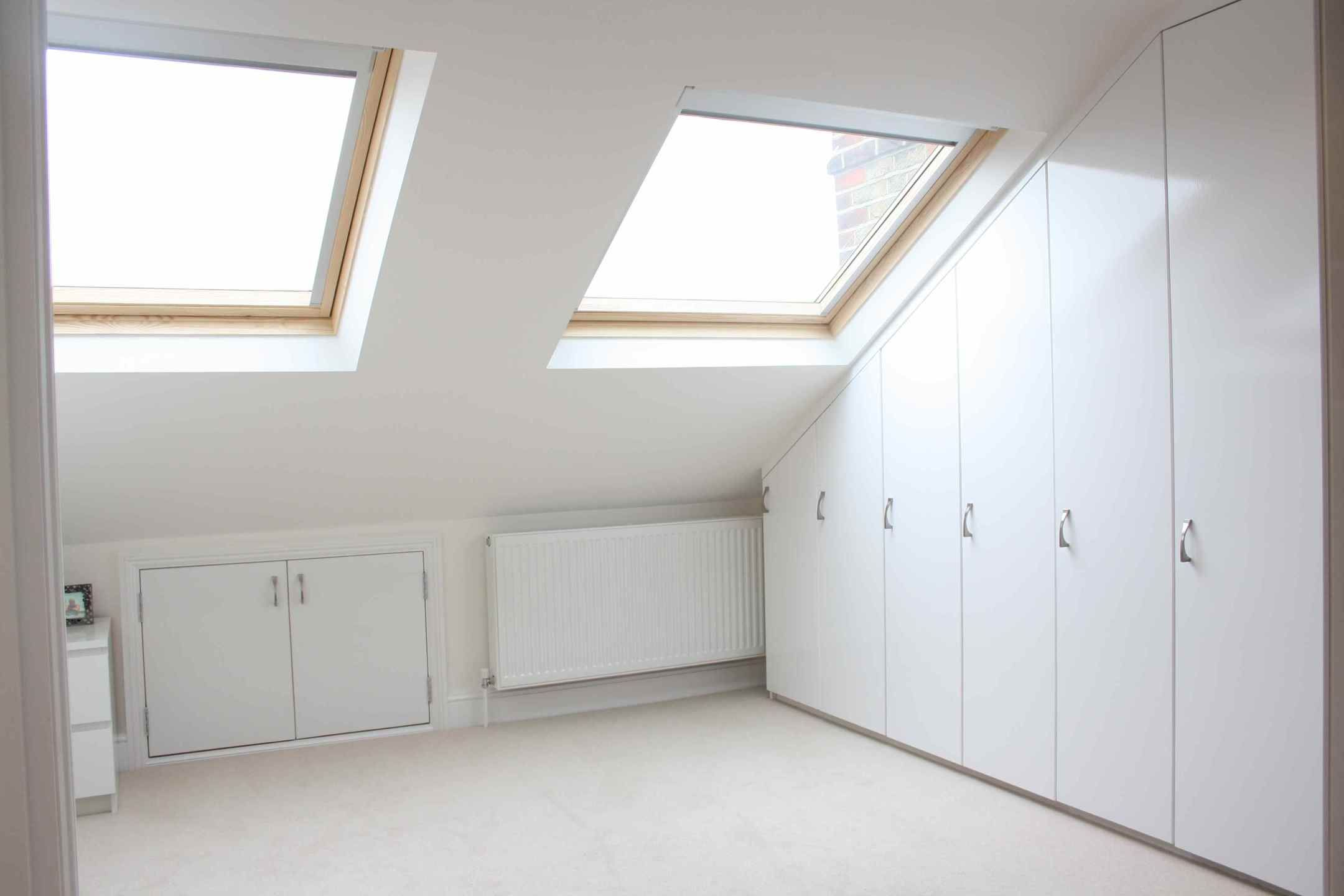 attic storage ideas pinterest  Small loft bedroom, Loft storage