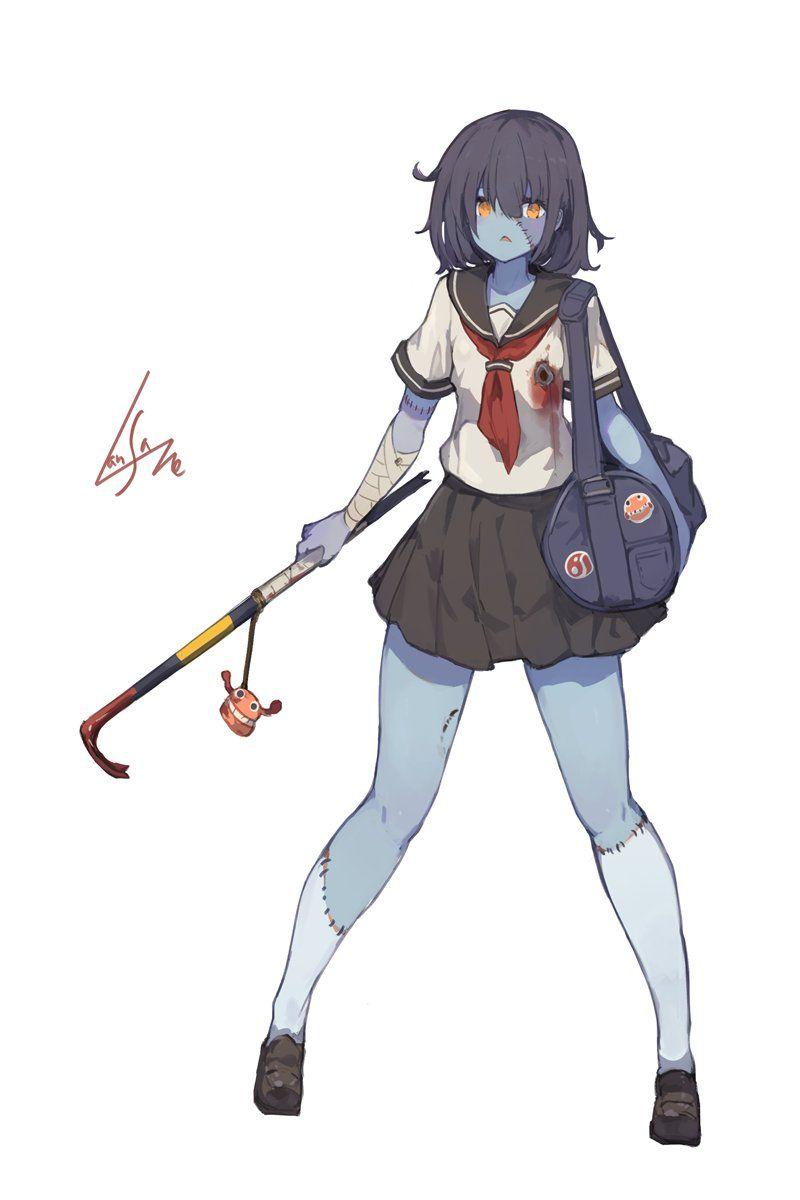 1 Twitter Zombie Girl Cute Anime Character Manga Girl