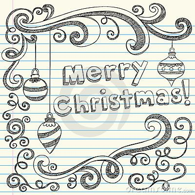 Merry Christmas Hand-Drawn Sketchy Doodles | Weihnachten ...