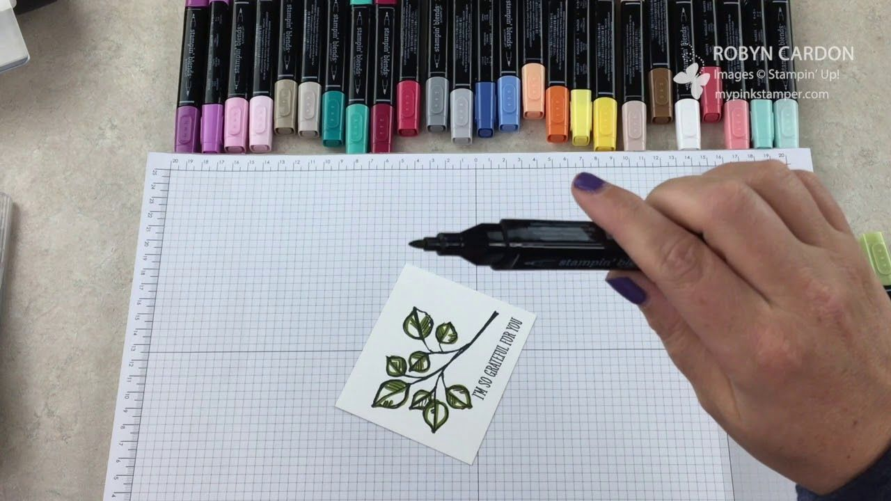 How to use Stampin\' Blends Alcohol Markers with Remarkable You Stamp ...