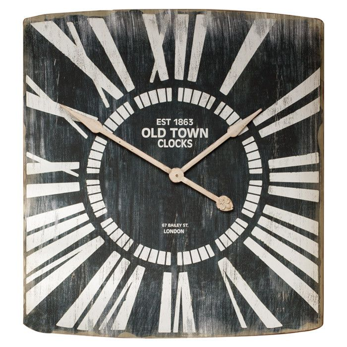 Old Town Wall Clock Wall Clock Old Town Clock Metal Wall Clock