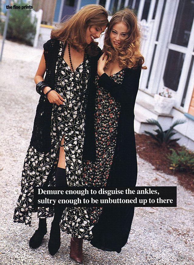 """The Fine Prints"", Mademoiselle US, January 1993Photographer : Dewey NicksModels : Nina Brosh & Unknown"