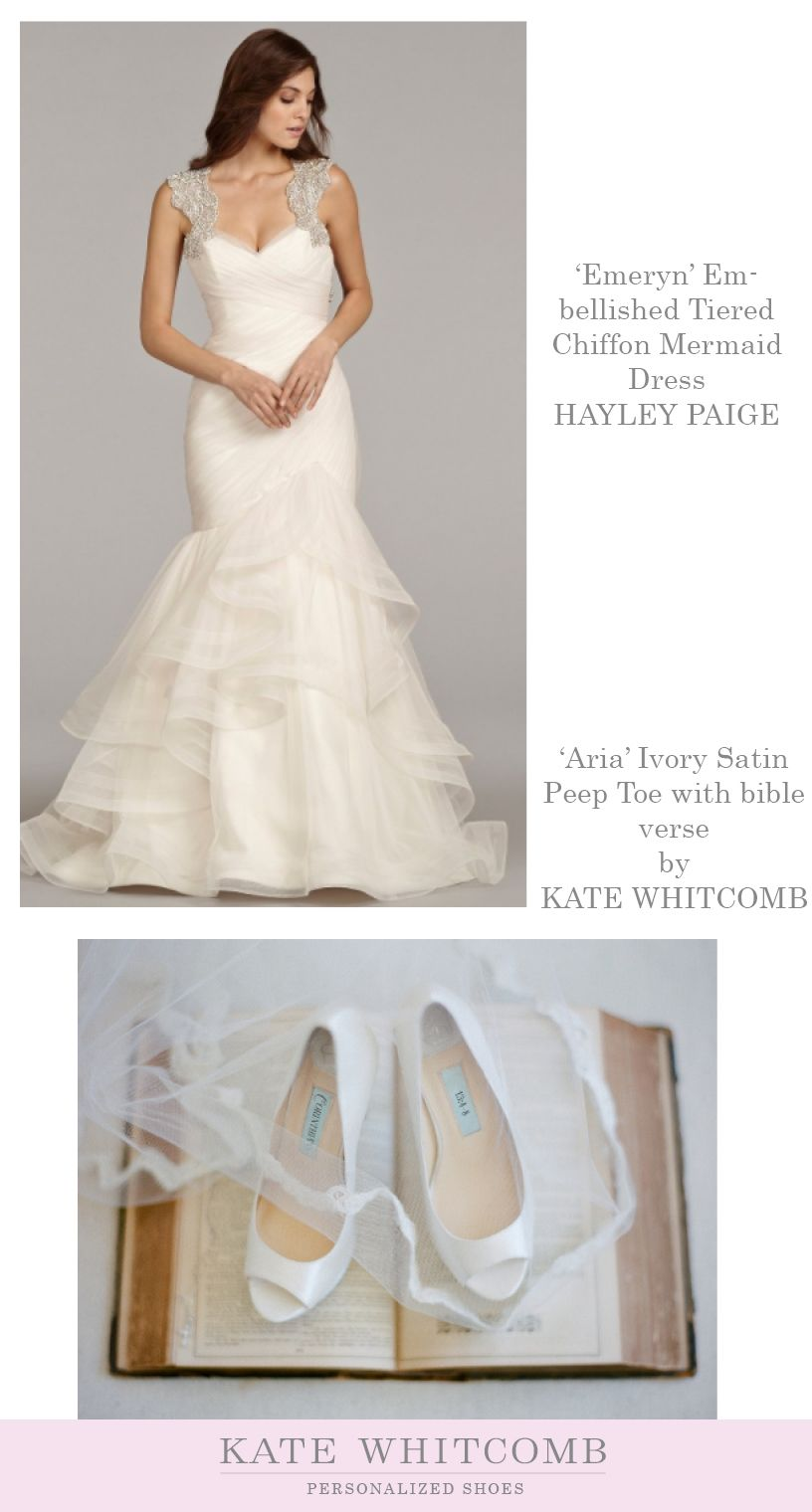 Emeryn Embellished Tiered Chiffon Mermaid Dress By Hayley Paige