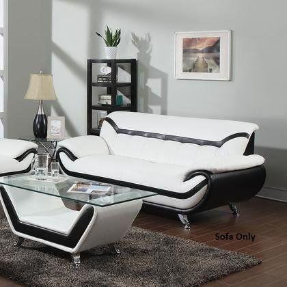 ACME Furniture 51155 Rozene Sofa, White/Black Bonded ...