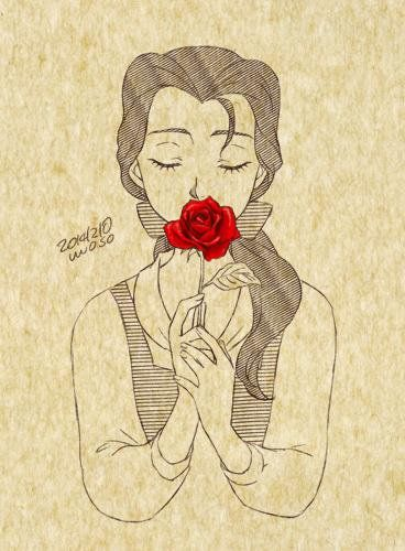 Belle With A Red Rose