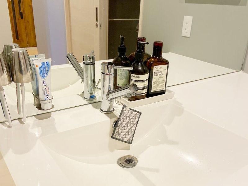 洗面台のラク家事 ダイソーからセリアに変更した結果 快適になりました 洗面台 シンプルライフ 家事