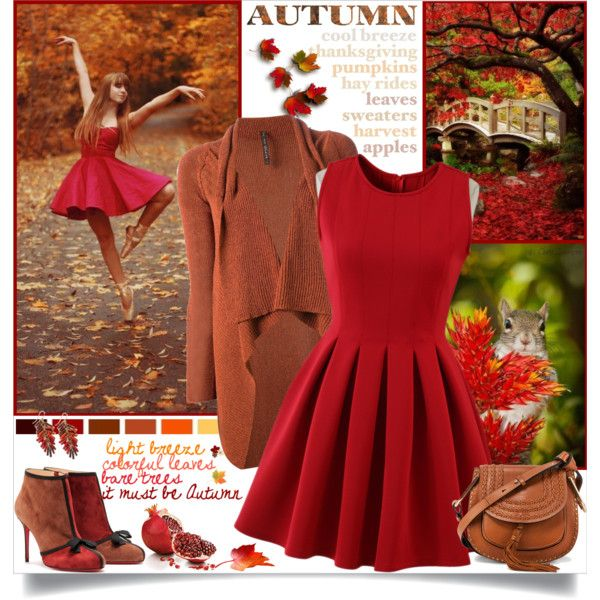 Colorful Autumn Leaves by annabu on Polyvore featuring мода, Chicwish, Manila Grace, Christian Louboutin, Chloé, Old Navy and LARA