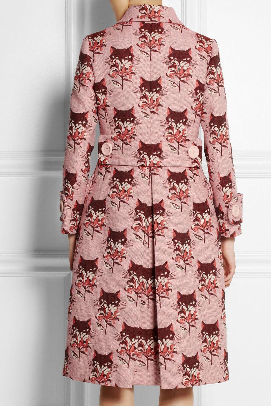 Miu Miu|Wool-blend jacquard coat|NET-A-PORTER.COM