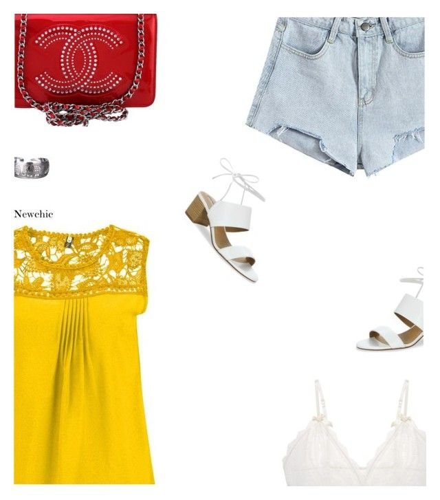 """NewChic"" by s-thinks ❤ liked on Polyvore featuring Tahari, Chanel, Hanky Panky and ootd"