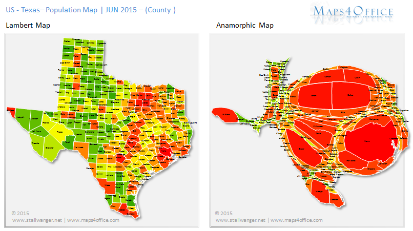 Texas Map County population density