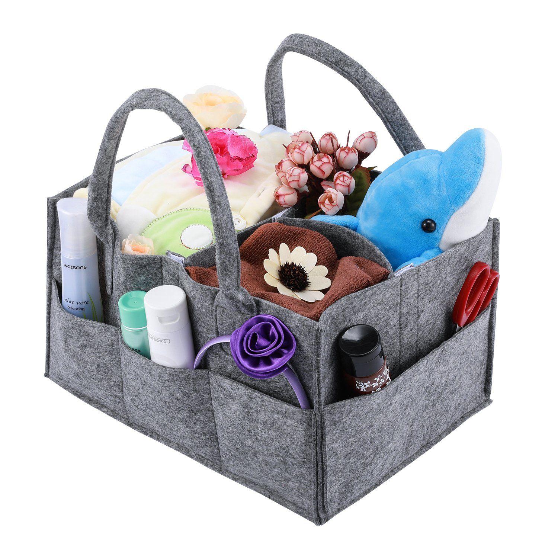 Baby Diaper Caddy, Magicfly Portable Nursery Storage Bin for Home ...