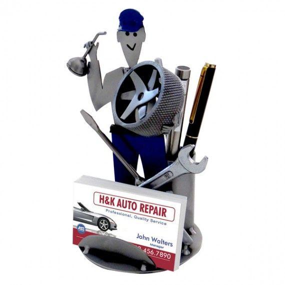 Auto Mechanic Pen Holder Business Card Holder Business Card Holders Mechanic Shop Decor Car Mechanic