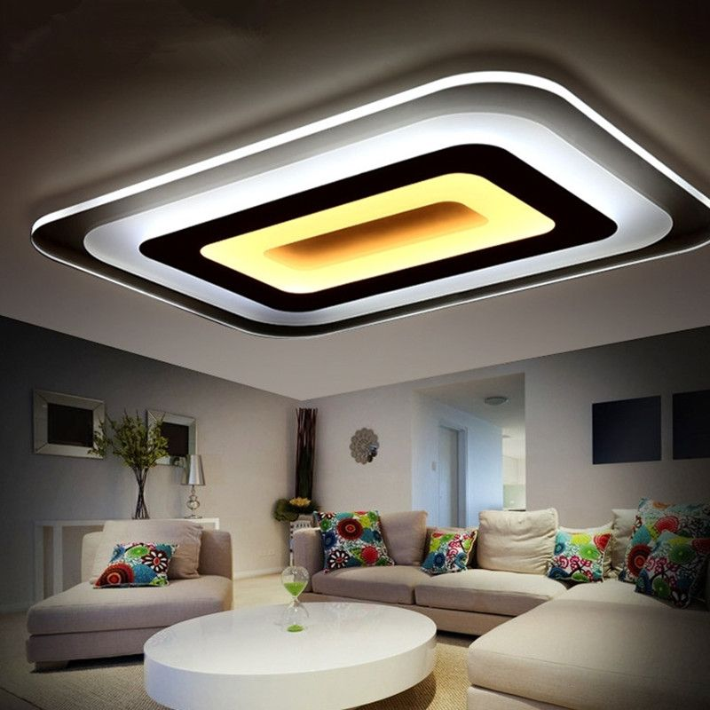Modern led ceiling lights for indoor lighting plafon led square modern led ceiling lights for indoor lighting plafon led square ceiling lamp fixture for living room aloadofball Images