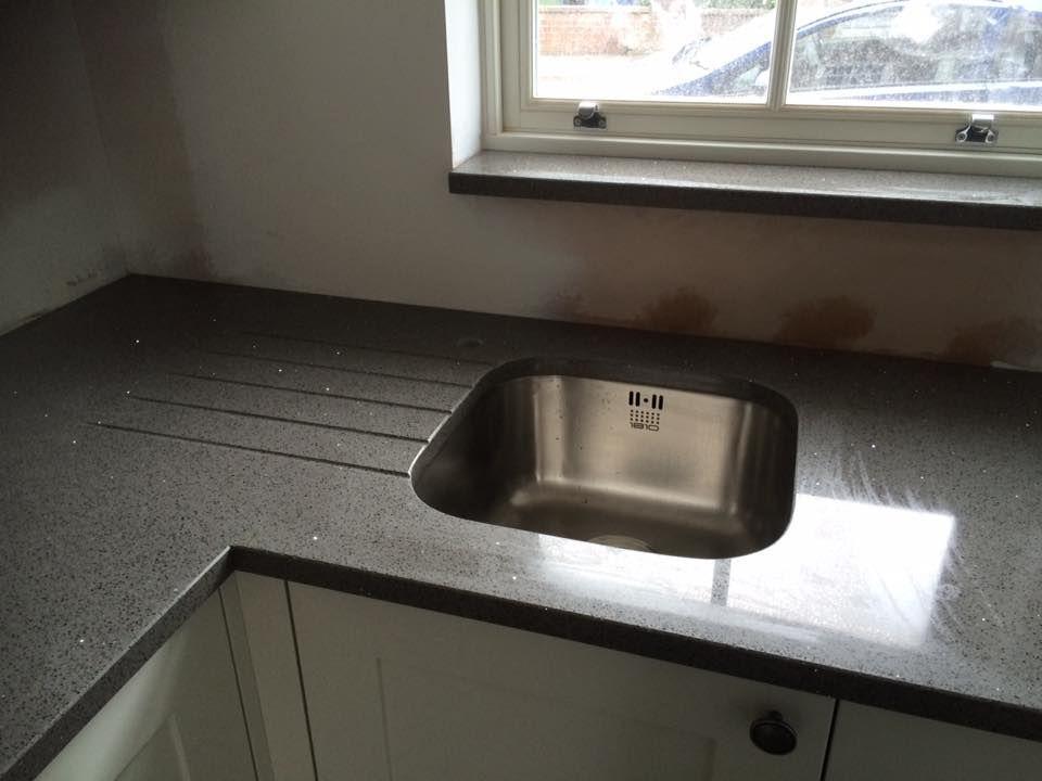 Silestone Stellar Grey Quartz Worktop With 1810 Sink Quartz Worktops Silestone Sink