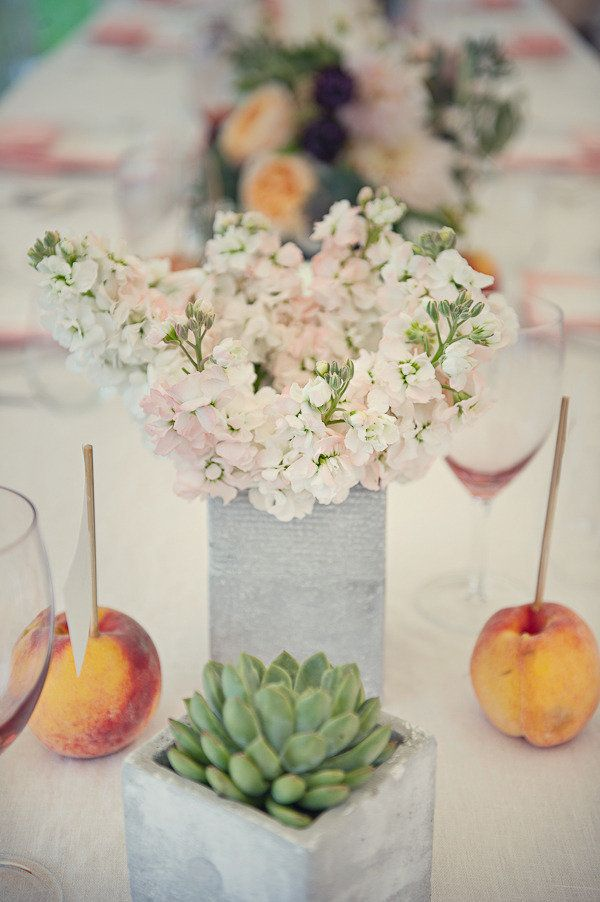 #succulents, #centerpiece  Photography: Lisa Berry Photography - lisaberryphotography.com Photography: Carla Ten Eyck - carlateneyck.com Event Design & Planning: Jubilee Events - eventjubilee.com Floral Design: Blush Floral Design Studio - studioblush.com  Read More: http://stylemepretty.com/2012/07/30/florence-griswold-museum-wedding-by-jubilee-events/