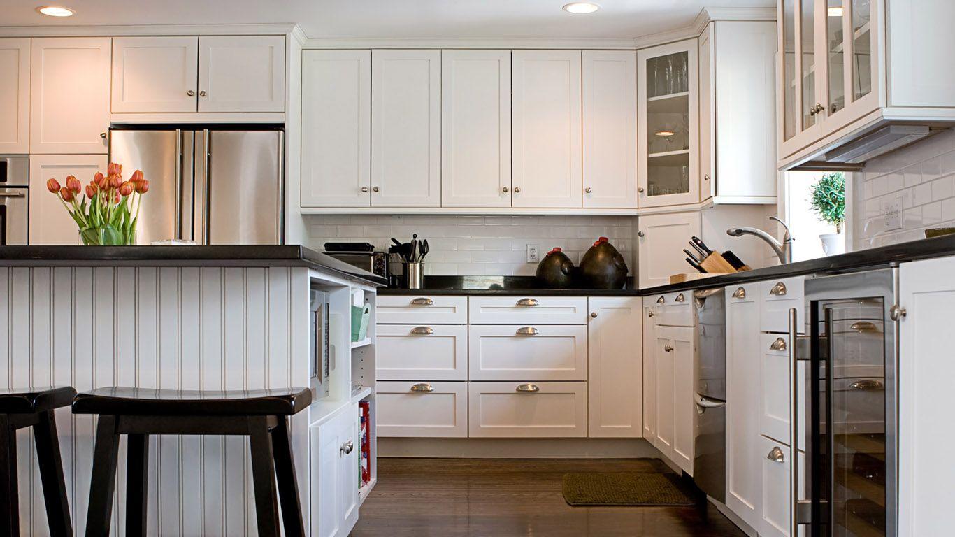 Captivating White Country Kitchens | White U0026 Black Country Kitchen