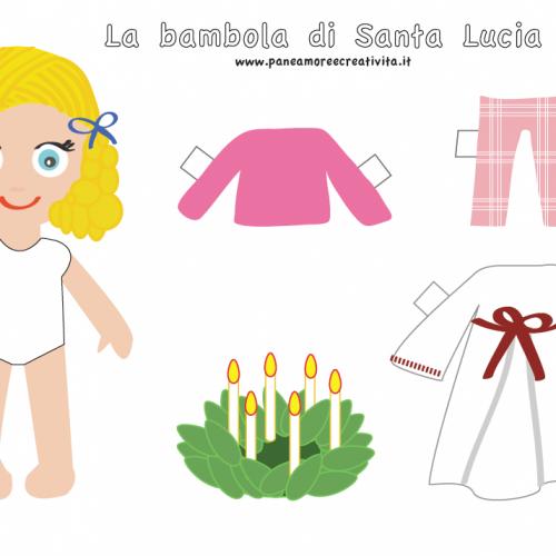 Santa Lucia Calendario.Calendario Dell Avvento Giorno 13 Santa Lucia Paper Doll Da