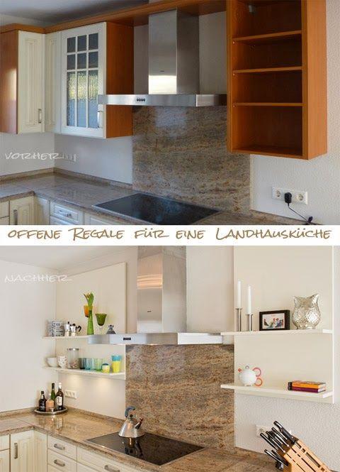 Offene Regale für die Küche - vorher nachher Bilder | Küche ...