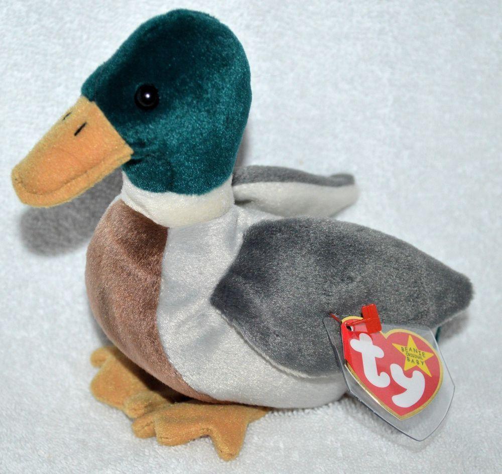 4dd2ccc8ccb TY Jake the Mallard Duck Beanie Baby Rare Retired Mint 1998 Original ( Ty 0