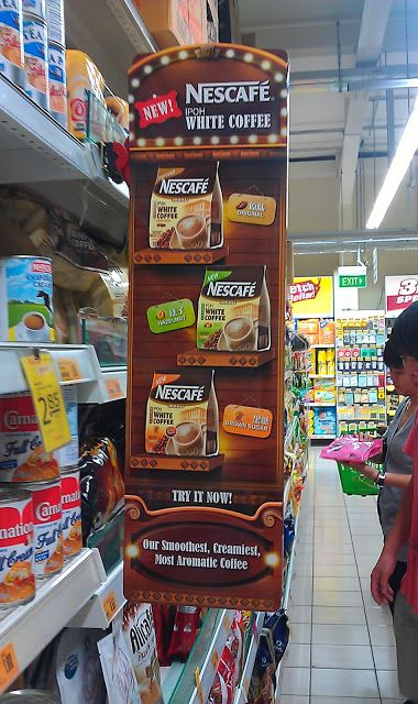 Marketing Exhibition Stand Mockup : Nescafe ipoh white coffee shelf banner