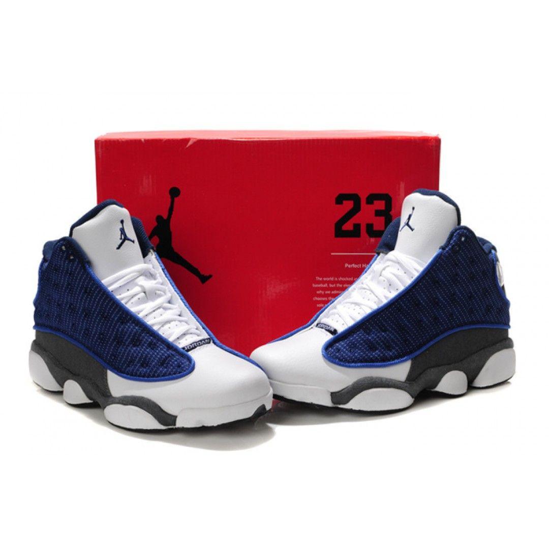 55906487455b7e Air Jordan 13 Flint French Blue University Blue Flint Grey 414571-401