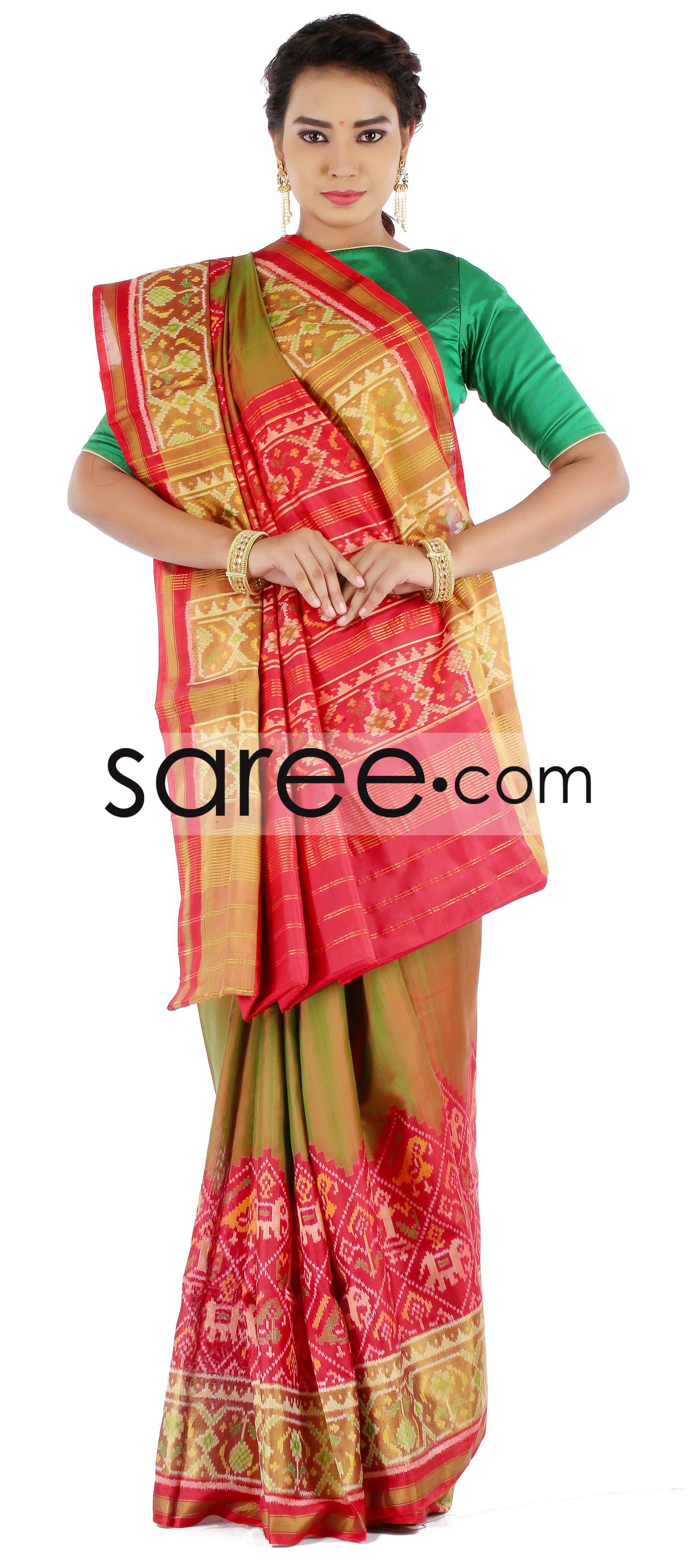 Maroon silk saree green and maroon patola sareeby asopalav  saree silk sarees and silk