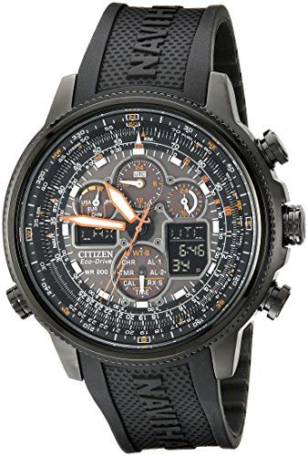 Citizen Mens EcoDrive Navihawk Atomic Timekeeping Watch JY803504E