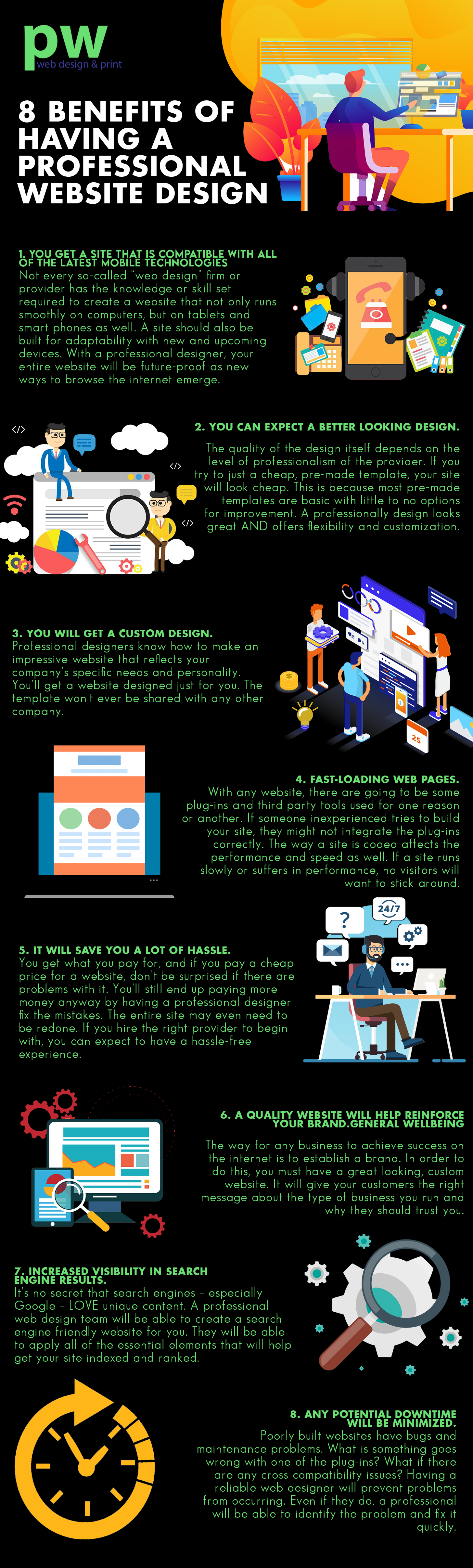 Infographic 8 Benefits Of Having A Professional Web Design In 2020 Web Design Professional Website Design Website Design