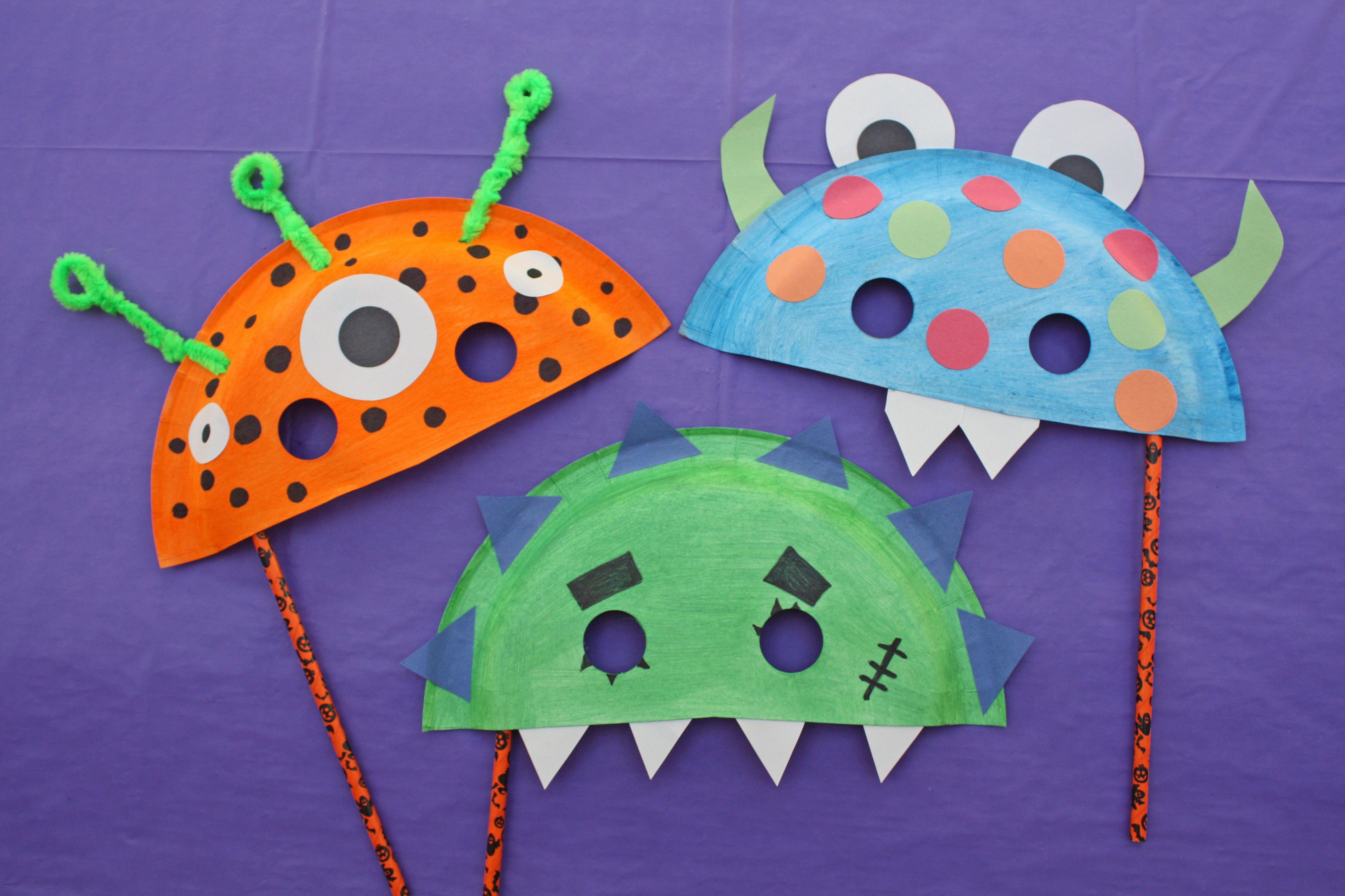 paper plate monster halloween masks halloween masks oriental