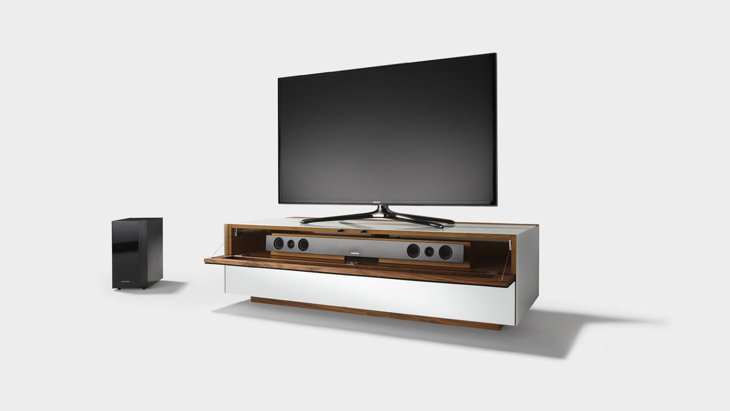Cubus pure home entertainment furniture with space for a sound bar