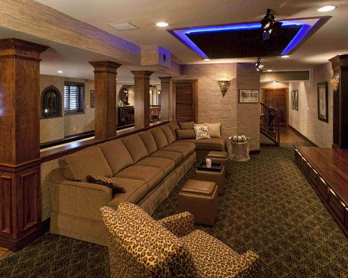 Performance Theater Contemporary Media Room Philadelphia By Rooms Inc