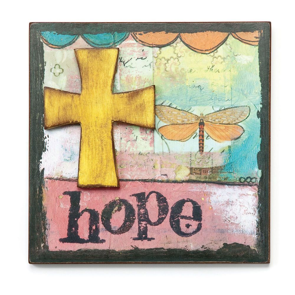 Hope Wall Art Plaque Kelly Rae Roberts Picture Demdaco 8\