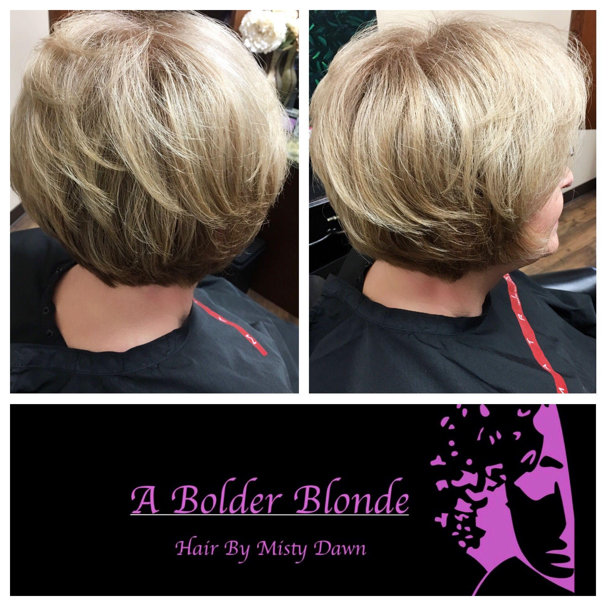 Abolderblonde mistydawn shorthair blondehair highlights