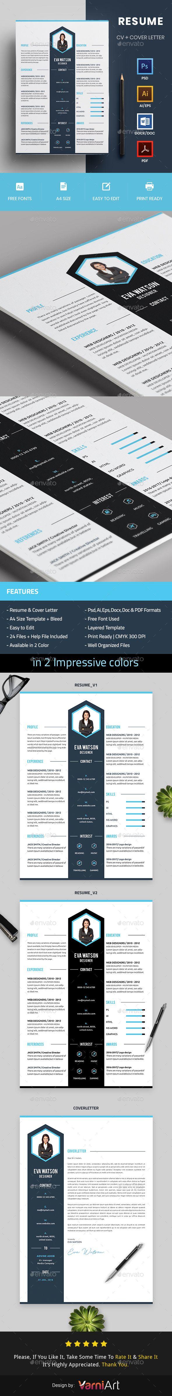 resume template ai illustrator and cv template - Illustrator Cv