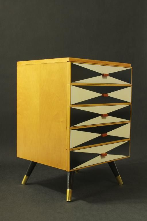 Reuse Furniture design lata 60-te, komoda vintage | furniture-refresh, reuse