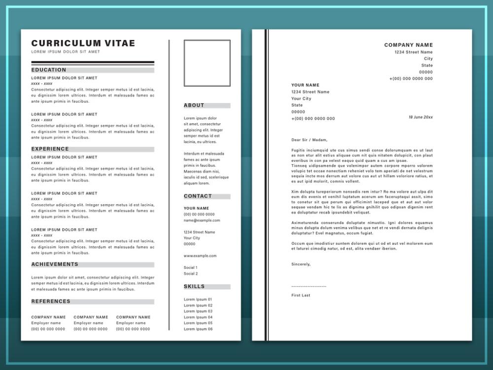 Resume Stock Graphic Design And Motion Graphic Templates Adobe Stock In 2020 Motion Graphics Graphic Design Resume