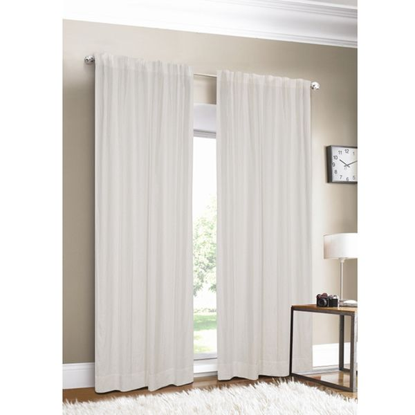 Luxury Linen White Lined Curtain Panel - Overstock™ Shopping - Great Deals on Curtains