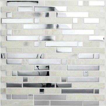 Stainless Steel Mosaic Tiles SSMT057 Glass mosaic tile backsplash ...