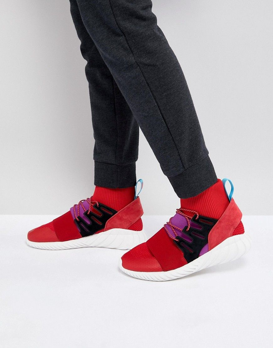 ADIDAS ORIGINALS TUBULAR DOOM WINTER SNEAKERS IN RED BY9397