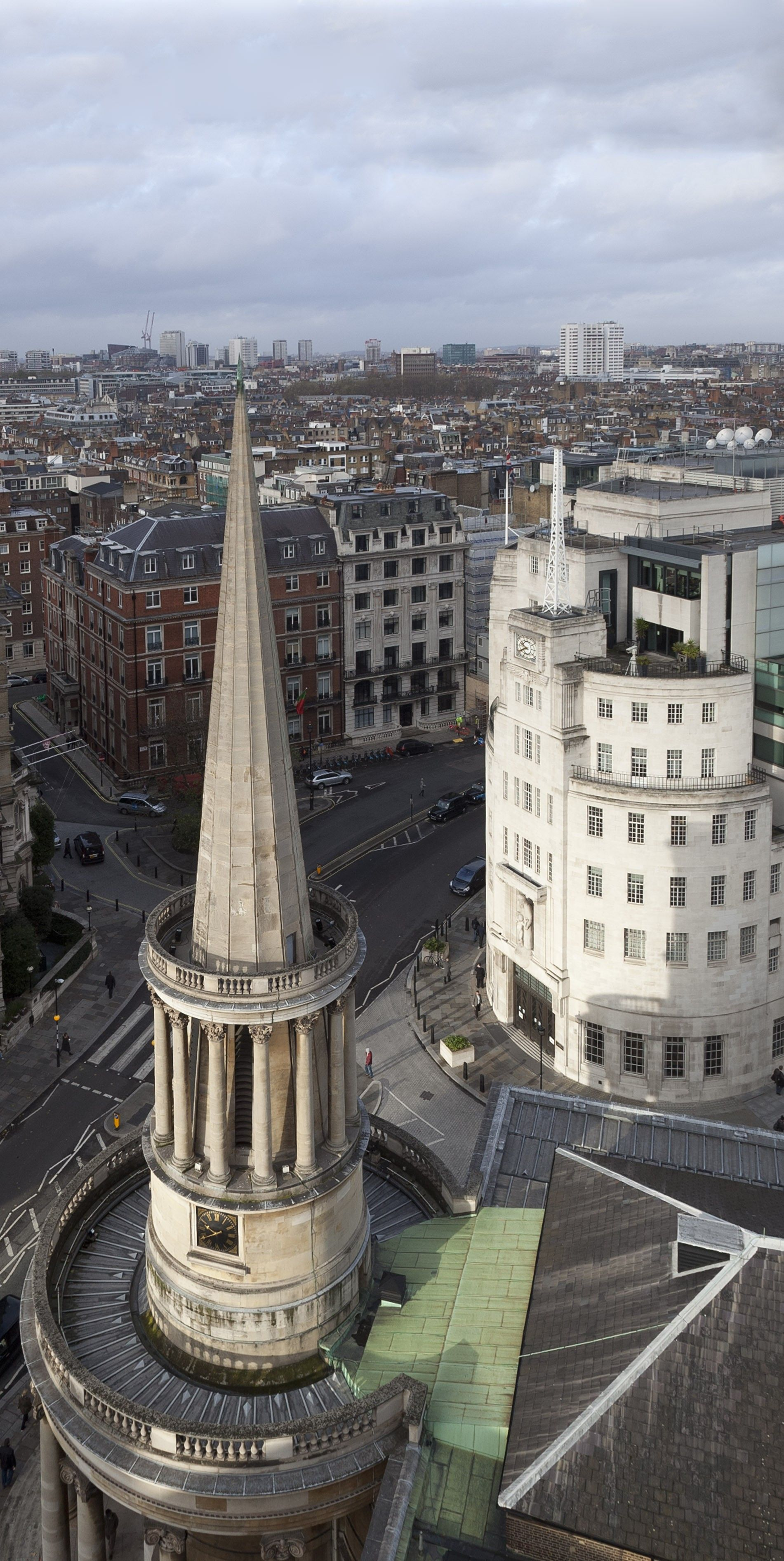 all souls langham place with broadcasting house chris redgrave