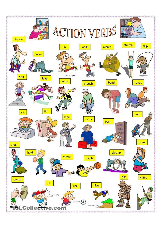 Action Verbs English Verbs Action Verbs English Language Teaching
