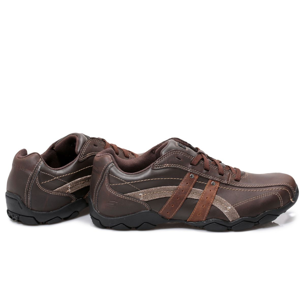 Skechers Blake Brown Leather Mens