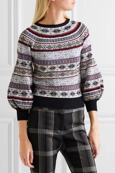 Alexander McQueen - Fair Isle Knitted Sweater - Navy | Fair isle ...