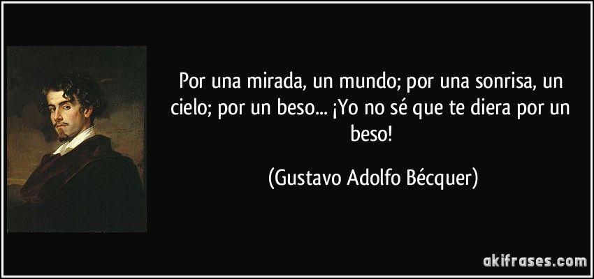 Gustavo Adolfo Bécquer Versos De La Vida Becquer Poemas Becquer Poesia