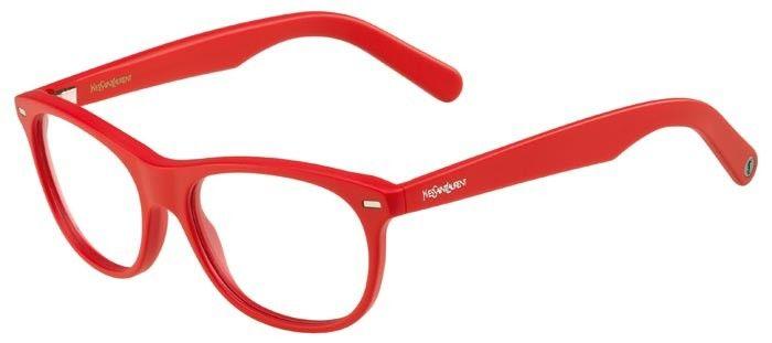 0fe52d33d24612 Lunettes de vue Yves Saint Laurent YSL-2349 de couleur rouge ...