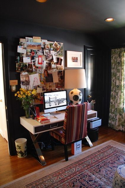 eclectic design home office desk chair eclectic home office by lisa borgnes giramonti interiors