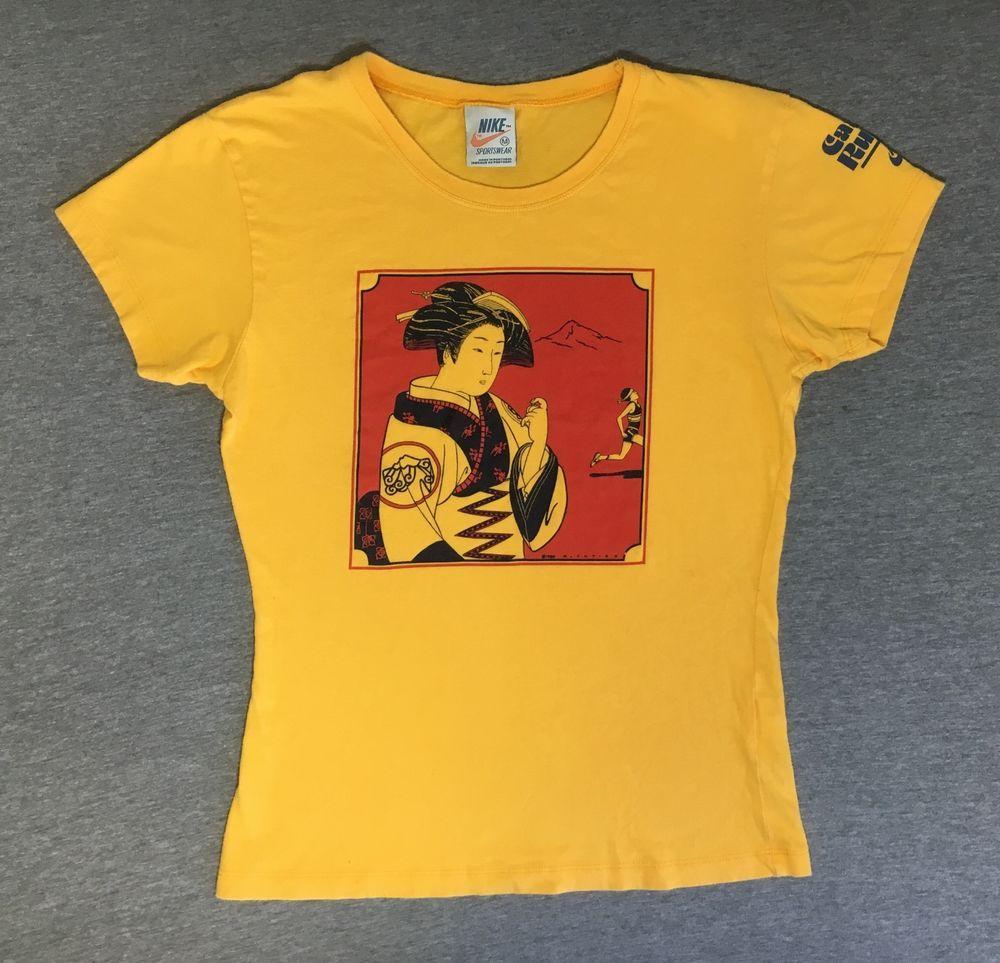 María metano bota  NIKE GEISHA GIRL Shirt PINWHEEL Cascade Run Off Ltd. Issue Remake Collector  RARE #Nike #GraphicTee | Geisha girl, Nike shirts, Mens tops