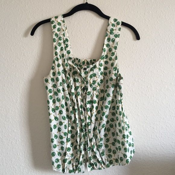 Adorable Anthropologie Sport Printed Tank Cream colored button up tank top with ping pong paddle print. Bottom of shirt hits right at the waist. In very good shape, only worn a few times. No trades, no PayPal. Anthropologie Tops Tank Tops