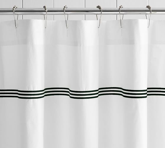 Grand Embroidered Shower Curtain Pottery Barn Fabric Shower